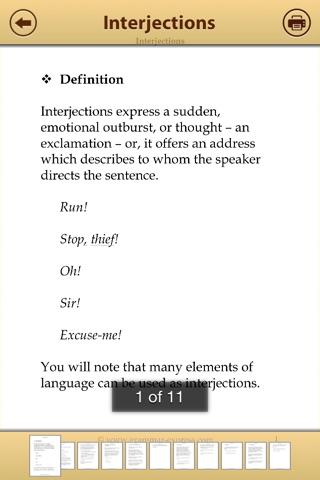 Grammar Express: Parts of Speech Lite screenshot 3