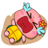 Miinu Limited - Pika the pink turtle for iMessage Sticker artwork