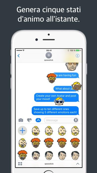 Screenshot of qooostick adesivo con emoticon personalizzata4