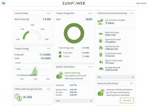 SunPower Customer Portal screenshot 1
