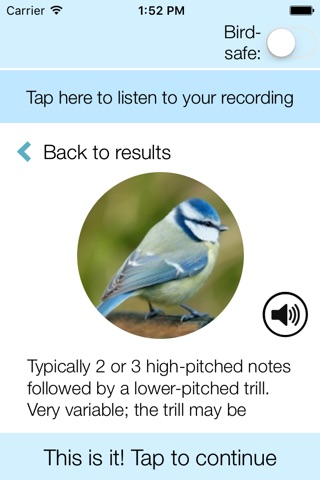 ChirpOMatic UK, Automatic Bird Song Recognition v2 screenshot 2