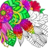 Flower Coloring Pages – Colouring Book for Adults