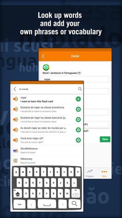 Learn Portuguese - MosaLingua Screenshot