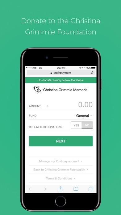 Screenshot #5 for Christina Grimmie Foundation