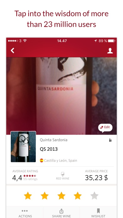 Vivino Wine Scanner review screenshots