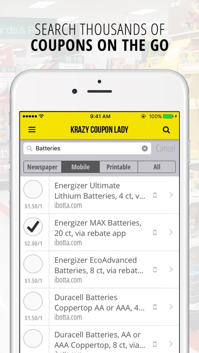 Screenshots of Krazy Coupon Lady | Grocery Coupons & Deals for iPhone