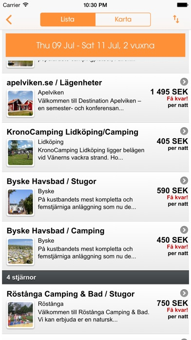 download Camping.se, Camping & Stugor apps 0