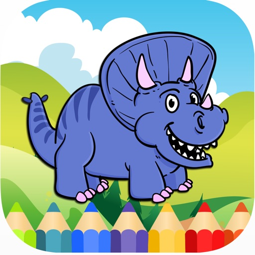 Coloring Pages Animals Dinosaur for Adults & Kids iOS App