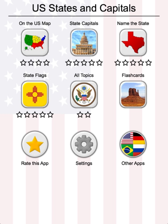 US States American Quiz On The App Store - Map of the us states and capitals