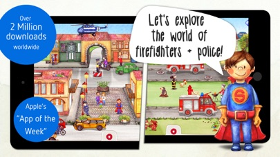 Tiny Firefighters: Police & Firefighters for Kids Screenshot