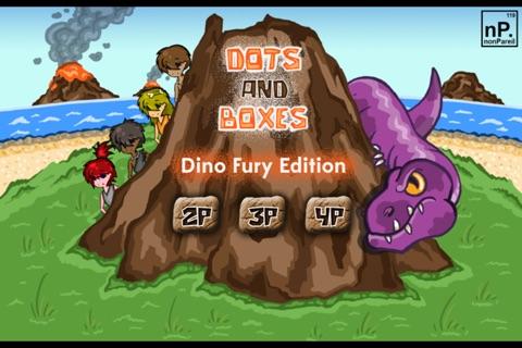 Dots and Boxes - Dino Fury Edition screenshot 1