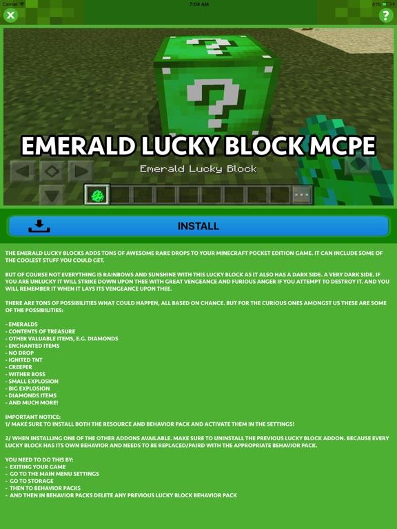 LUCKY BLOCK ADDONS for Minecraft Pocket Edition por Hoai