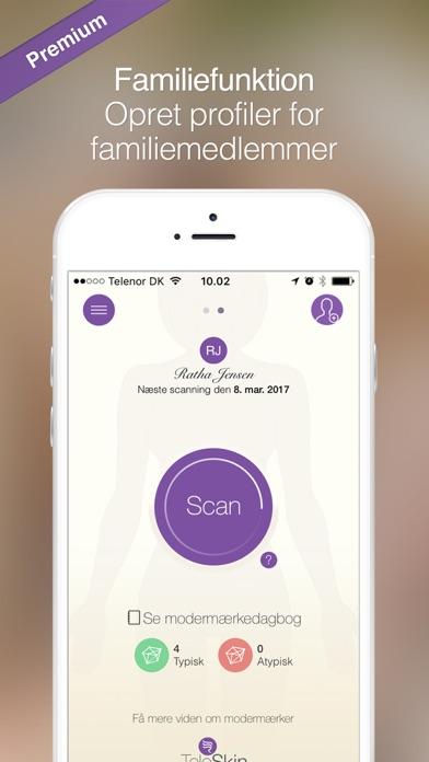 Screenshot for skinScan app in Denmark App Store
