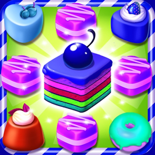 Astonishing Cake Puzzle Match Games iOS App