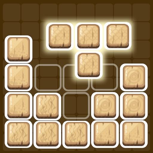 Wooden Block Puzzle - brain cross word fit fingers iOS App