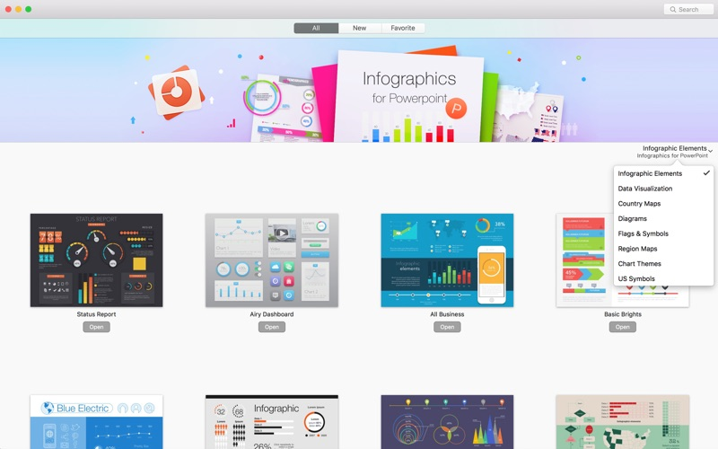 Infographics Maker - Templates 3.3.2 Mac 破解版 - 图表制作模板