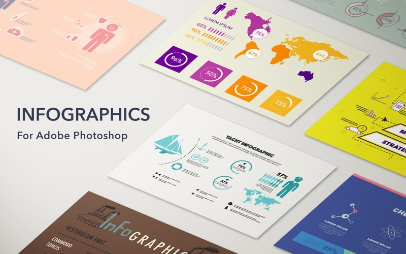 GN Infographics for Adobe Photoshop - Templates Screenshot