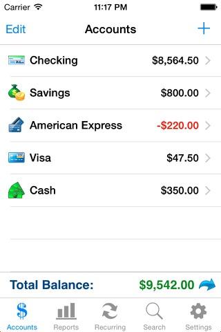 Accounts 2 Checkbook screenshot 2
