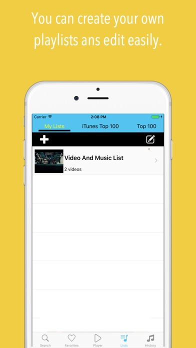 Tubify Music Video Screenshot on iOS