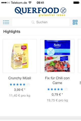 QUERFOOD - glutenfrei leben screenshot 2
