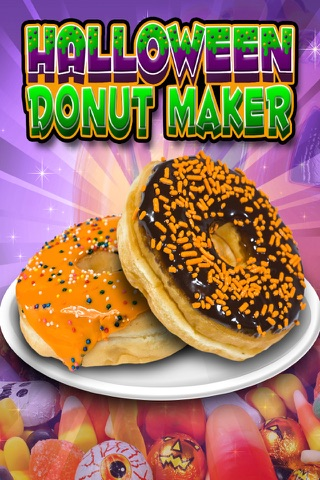 Halloween Donut Maker Dessert Food Cooking Game screenshot 1