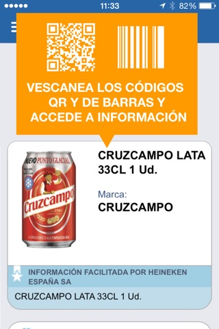 BIDI: Lector QR y de Barras screenshot 1