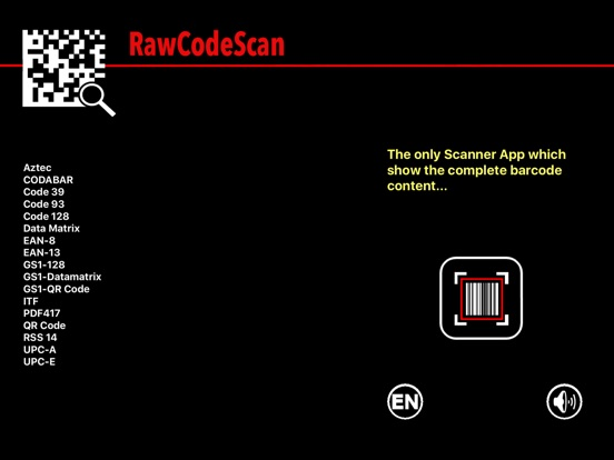 RawCodeScan Screenshots