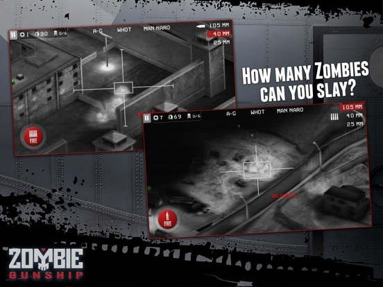 Screenshot #5 for Zombie Gunship: Gun Down Zombies