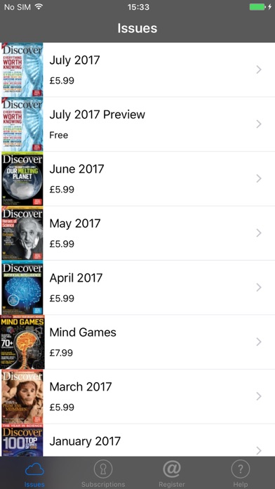Discover Magazine review screenshots