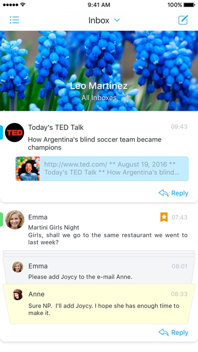 Flow - tames your mobile inbox Screenshots
