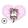 Adorable and Lazy Cat Animated Stickers Wiki