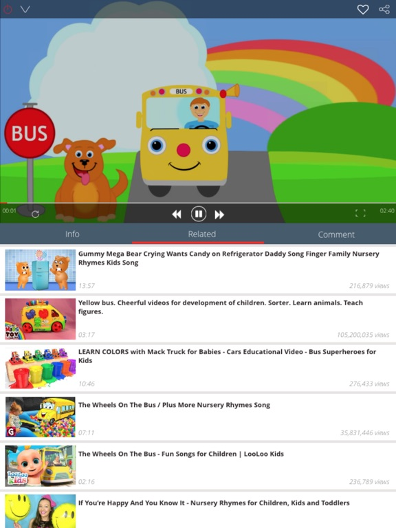 Screenshot #2 for Kid Songs - Top music learn singing english song