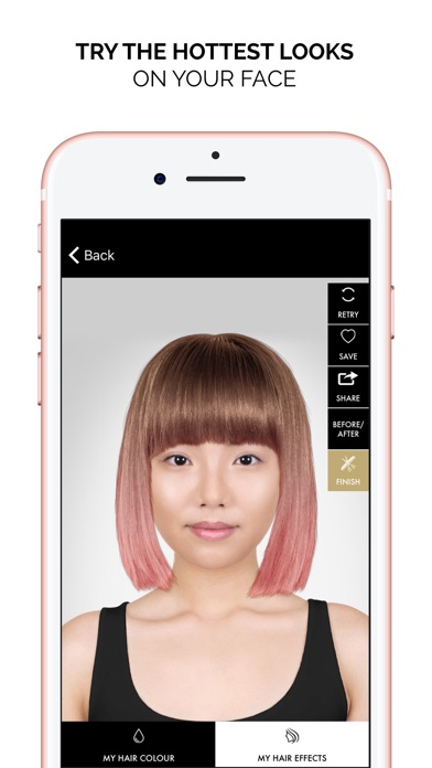 Style My Hair Try On And Color On The App Store - Hairstyle colour app