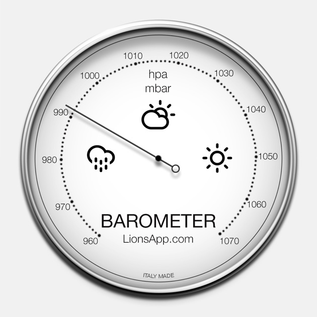 Barometer atmospheric pressure on the app store for Barometric pressure app for fishing