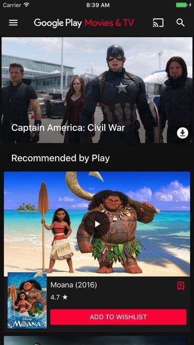 Google Playムービー&TVのスクリーンショット1
