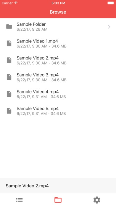 Simple Remote for VLC Screenshot on iOS