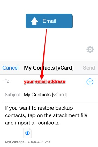 My Contacts Backup screenshot 2