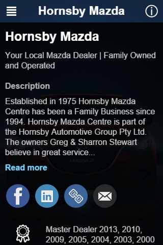 Hornsby MAZDA screenshot 2