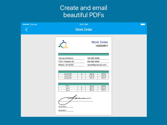 Canvas Business Forms Mobile App Form Builder On The App Store