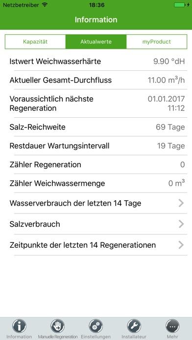 Screenshot von myGrünbeck3