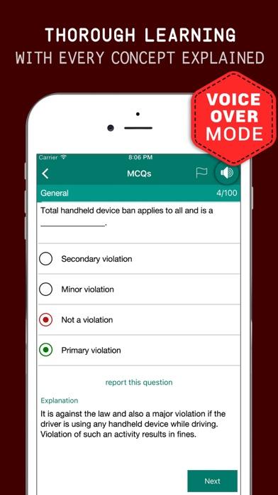 Virginia DMV Practice Exam Prep 2017 – Flashcards Screenshot on iOS