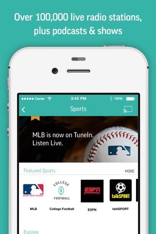 TuneIn Radio: Music & Podcasts screenshot 2