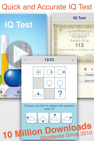 Download IQ Test Pro - Answers Provided app for iPhone and iPad