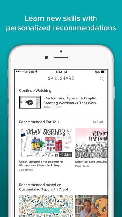 download Skillshare Online Classes appstore review