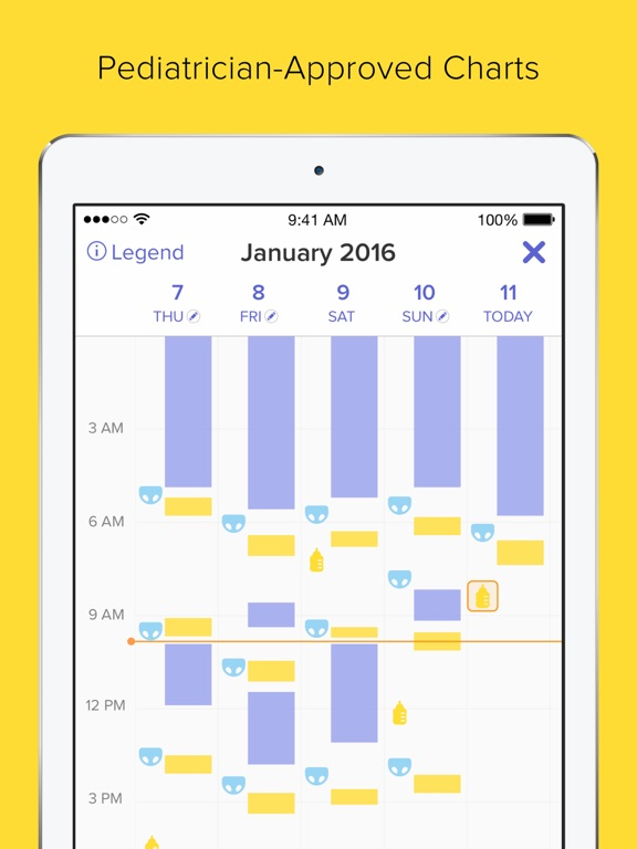 Screenshots of Glow Baby - Baby Tracker of Breastfeeding, Diapers for iPad