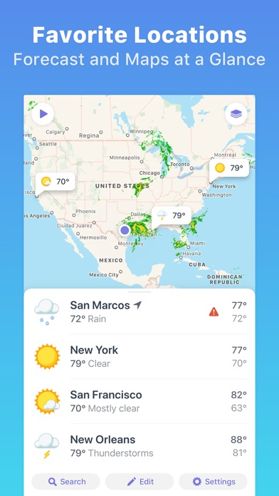Weather Atlas: Weather Radar Map + 10 Day Forecast app review