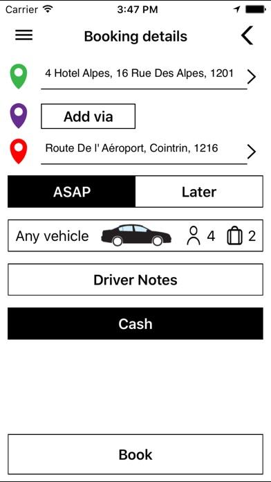 Geneve TaxiCapture d'écran de 3