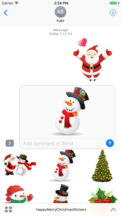 happy merry christmas stickers screenshot 1
