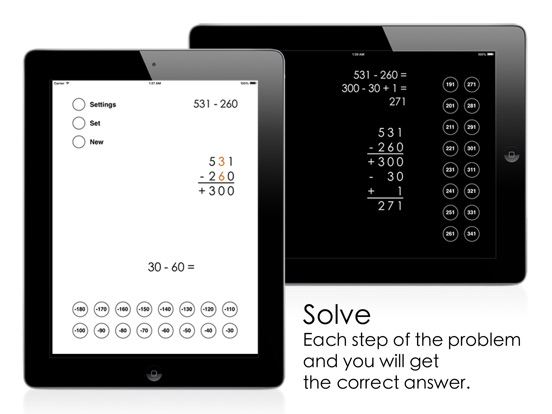 Partial Difference Subtraction Screenshots