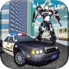 警察のロボットの車の変換